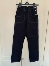 Freddies of Pinewood Black 1950s Button Jeans Vintage Style - Size 26 Regular