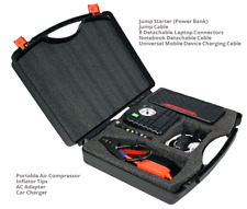 12V Compact 16500 mAh Portable Car Battery Jump Starter Air Compress laptop cell