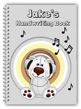 A5 PERSONALISED CHILDREN'S NOTEBOOKS/50 WRITE HAND WRITING PRACTICE PAPER/ 02