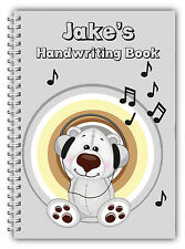 A5 PERSONALISED CHILDREN'S NOTEBOOKS/50 LINED HAND WRITING PRACTICE PAPER/ 02