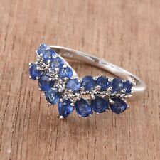 Himalayan Kyanite Platinum Over Sterling Silver Crown Ring (Size 9.0) TGW 2.26ct