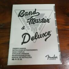 FENDER Band-Master & Deluxe Owner's Manual 2008