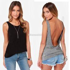 Sexy Damen Rückenfrei Sommer Shirt Fit Sport Fitness Tanktop Bluse HIGH QUALITY!