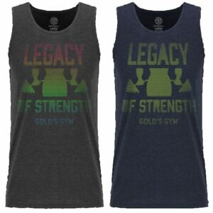GOLD'S GYM MENS LEGACY OF STRENGTH SPORT FITNESS TRAINING TANK TOP