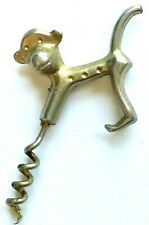 Vintage Gold Tone Metal Monkey Corkscrew For Your Bar Or Man Cave!