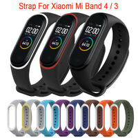 New Xiaomi Mi Band 4 3 2 Strap Silicone Wrist Strap Replacement Dual Color Strap