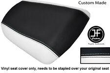 WHITE & BLACK VINYL CUSTOM FOR KAWASAKI NINJA ZX6R 636 A1P 98-03 REAR SEAT COVER
