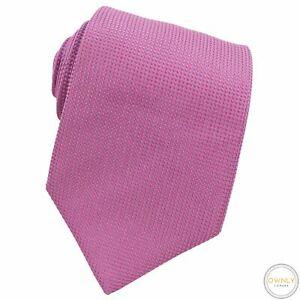 Turnbull & Asser Pink Violet 100% Silk Dotted Textured Glossy Handmade Tie