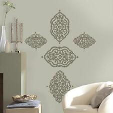 MOROCCAN DIAMANTE Classic Damask Ornamental Geometric Decor Wall Decal Sticker