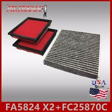 FA5824(X2) FC25870C(CABON) OEM QUALITY ENGINE & CABIN AIR FILTER: 2008-2013 G37