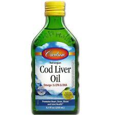 Carlson Laboratories Norwegian Cod Liver Oil Liquid Lemon Flavor - 8.4 oz