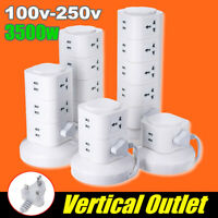 1~5 Layer Vertical Power Socket USB Port Outlet Charger Power Board Protector