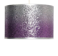 Mallow Purple and Silver Ombre Glitter Easy Fit Ceiling Light Shade