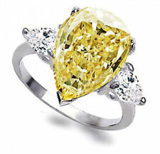 8 By The Custom Jewelry King Yellow Topaz W/Cz'S 925 Layered Silver Ring-Size