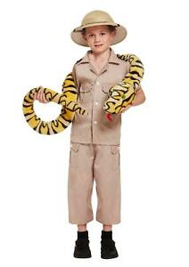 Children Safari Explorer Costume Kids School Jungle Fancy Dress Party Accessory