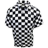 OBEY Men's Black & White Checkered S/S Shirt (Retail $59.99) S05