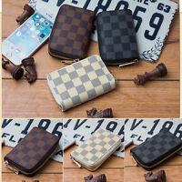 Genuine Leather Men's Classic Id Credit Card Wallet Holder Slim Pocket Case Gift