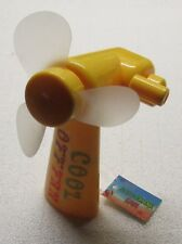 Cool Off Yellow Hand Crank FAN by Diamond Visions NEW