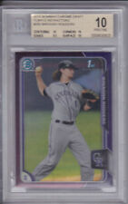 2015 Bowman Chrome Draft Brendan Rodgers Purple Refractor /250 BGS 10 Pristine