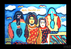 Contemporary Handmade Painting Md & Sd By World Fame Artt. Nidhi Bandil Agarwal