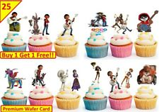 50 COCO  Birthday Cup Cake Kids Party Toppers Wafer Edible STAND UP