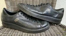 Vintage adidas Official Shoes Black Leather Made In France Size 9 Super RARE