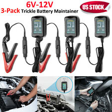 6V 12V Trickle Battery Charger Maintainer Car Boat LawnTractor Marine Motorcycle