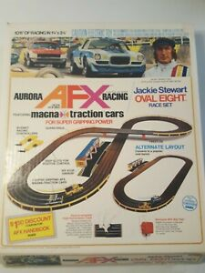 74 Vintage Aurora AFX Racing JS Magna Traction #2230 Oval 8  in Box Never Used