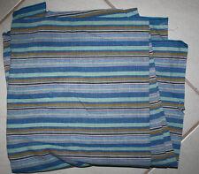 Multi striped cotton fabric material very versatile great fabric