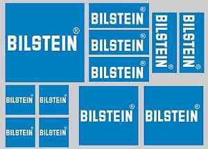 BILSTEIN STICKER SETS - SHEET OF 12 STICKERS - DECALS