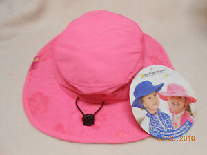NWT Girl Pink Safari Hat  SUN PROTECTION ZONE Kids Children Ages 3-8 adjustable