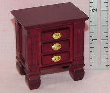 Dollhouse Miniature Nightstand Wood Mahogany CLA10855 1:12 Scale