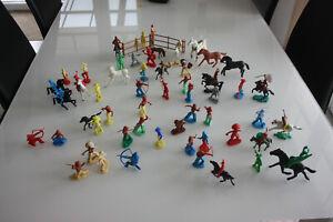 Spielzeug Figuren Konvolut Indianer,Soldaten,Cowboys Pferde