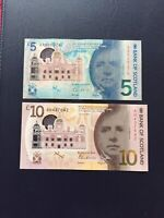 Bank Of Scotland £5 & £10 Pounds Bank Notes. Ideal For Collection.