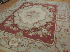 Striking French Aubusson Style Square Area Rug 8x9, 8x8, 9x9