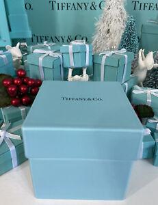 "Tiffany&Co. Everyday Objects Box Blue Bone China 3.5""x3.5""x3.25"" W Box"