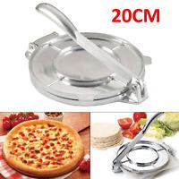 20CM Heavy Gauge Manual Restaurant Cast Iron Flour Corn Tortilla Press Maker UK