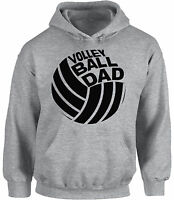 Volleyball Dad Hoodie Hooded Sweatshirt Sport Dad Volleyball Father`s Day Gift