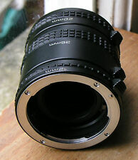 Pentax   PK   fit  Auto extension tubes set  (used)