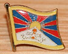 TIBET Flag Metal Lapel Pin Badge New