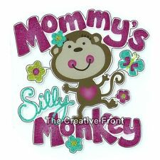 Mommy's Silly Monkey - DIY Iron On Glitter T-Shirt Heat Transfer - NEW