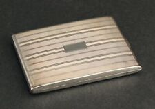 Antique Hallmarked Art Deco Sterling Silver + Yellow Gold Cigarette Case, Nr