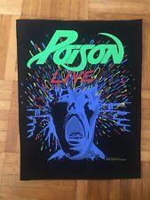 Poison Vintage Backpatch Rückenaufnäher f. Fans v. Kiss Whitesnake