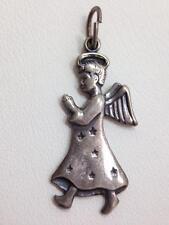 Guardian Angel Charm for Bracelet or Pendant Sterling Silver Heaven God 925 FMGE