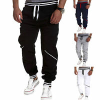 Men Drawstring Waist Harem Pants Casual Sport Exercise Loose Trousers Sweatpants