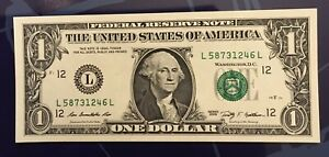 UNC USD Dollar Bill Fancy Serial Number | Mixed LADDER 1-8 | 2009 FRN **L@@K**
