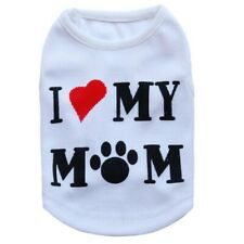 Pet Tank Top Soft Dog Clothes Shirt Puppy Love Mom Costume for Yorkie Shih Tzu