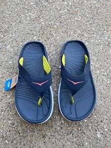 Hoka One One Ora Recovery Flip Flop Sandal Ombre Blue/Fiesta Mens Size 7
