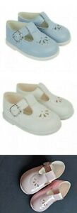 NEW GIRLS/BOYS T-BAR BAY PODS BABY/TODDLER FIRST PRAM WALKING HARD SOLE SHOES