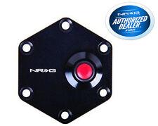 NRG Aluminum Steering Wheel Horn Button Black Cover Plate W/ Button STR-600BK